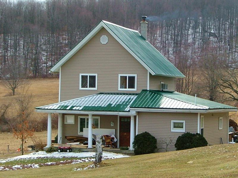 Green Metal Roofs Photos