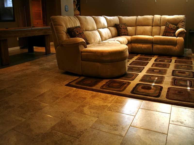Porcelain or ceramic floor tile