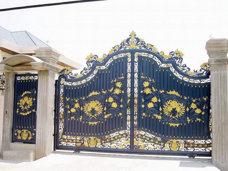 Kerala house gates photos