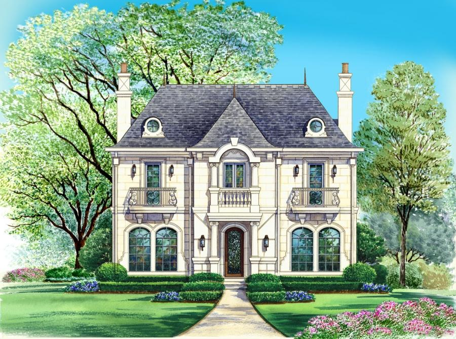 Photos country french houses for Luxury country house plans