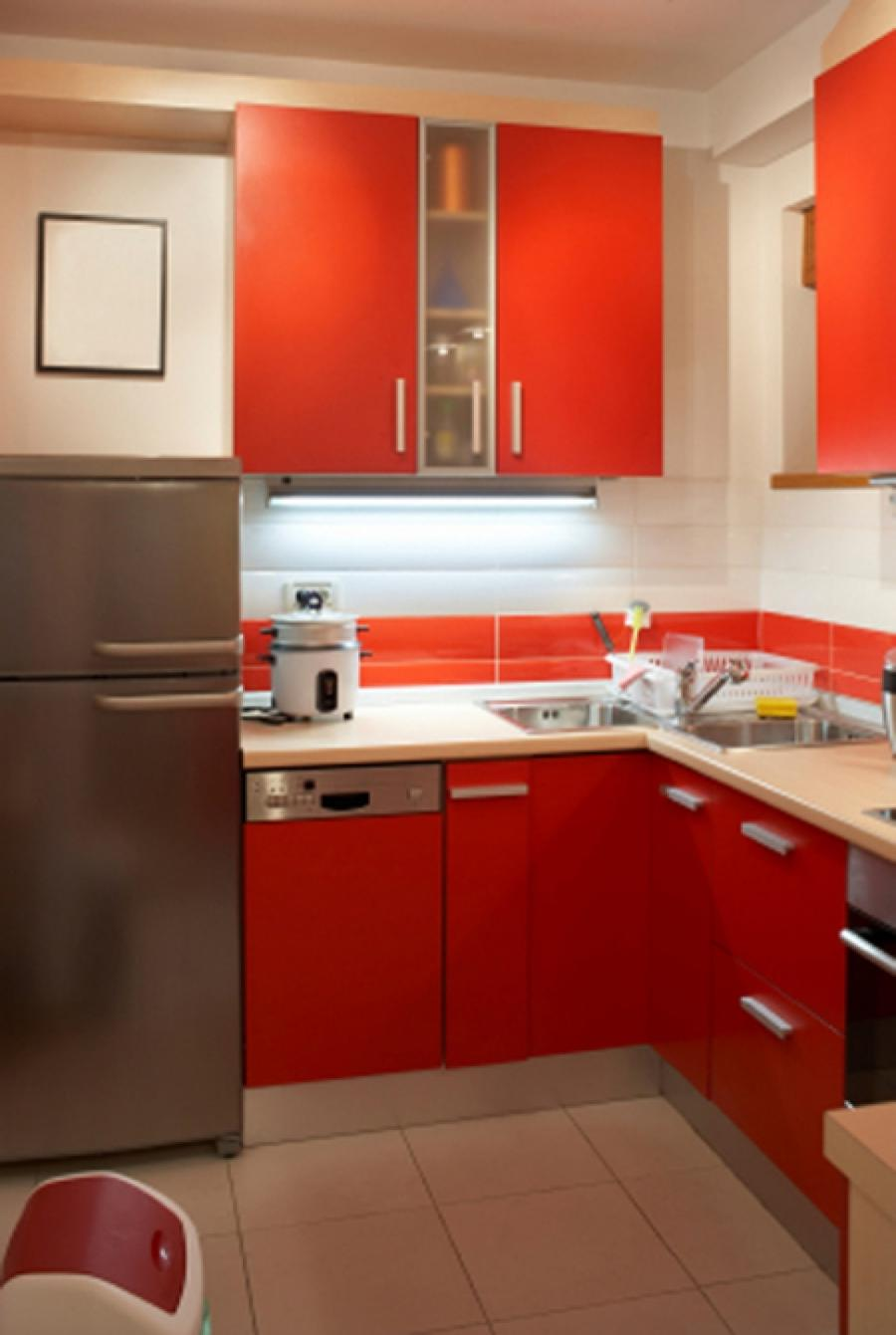 Photos of kitchen designs for small spaces for Modern kitchen designs for small spaces