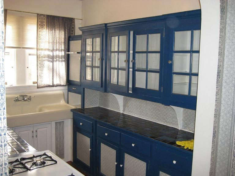 Further into the kitchen you see the unique set of Blue