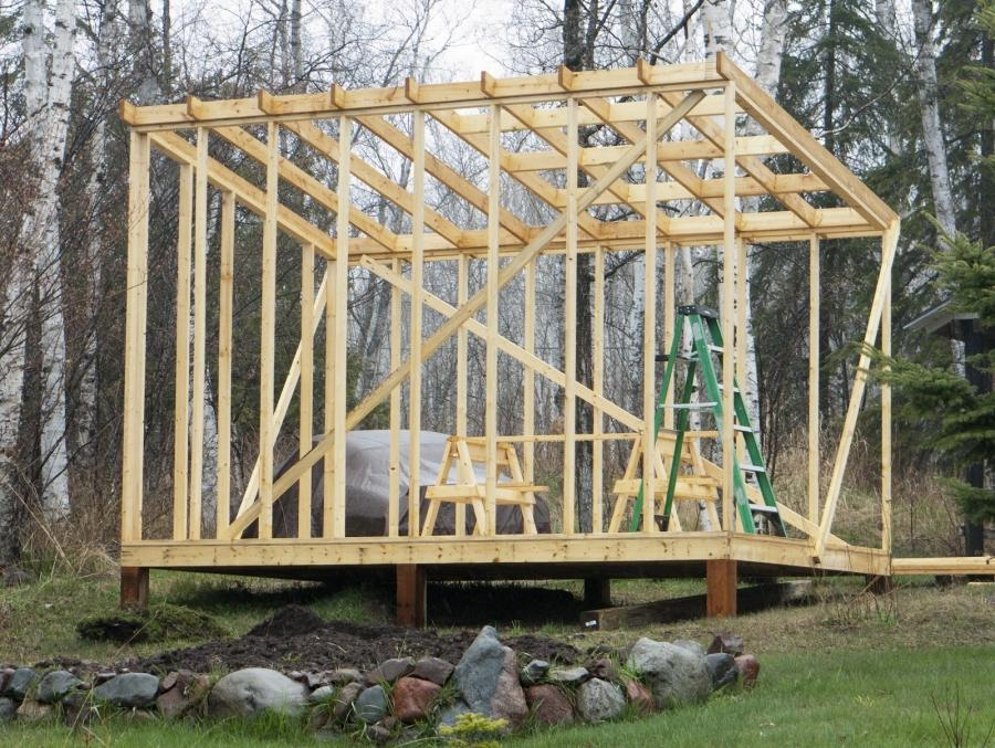 Photos of shed roof for Garden decking framework