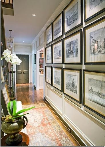 Hallways make a perfect art gallery. Instead of rushing from room...
