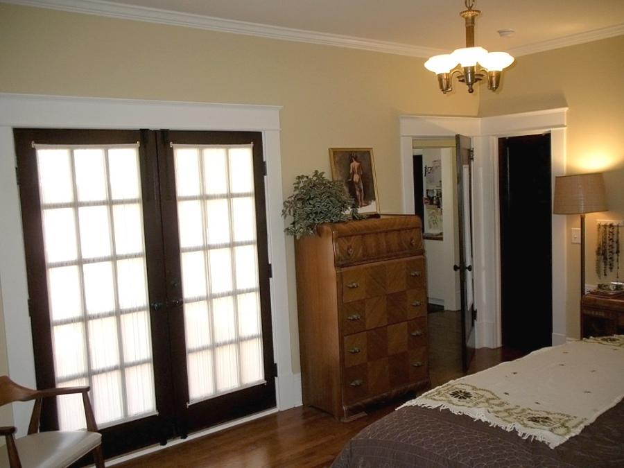 French doors with a privacy sheers that Kate also made. The light...