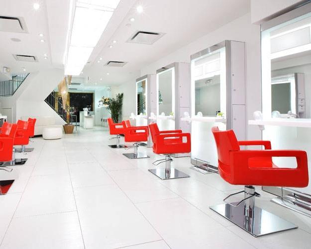 Hair salon interiors photos for Mizu hair salon nyc