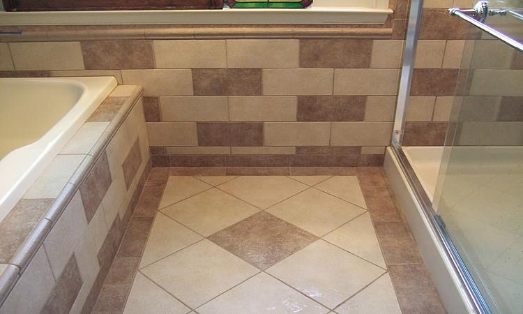 Photo diagonal tile for Bath remodel fairfax va