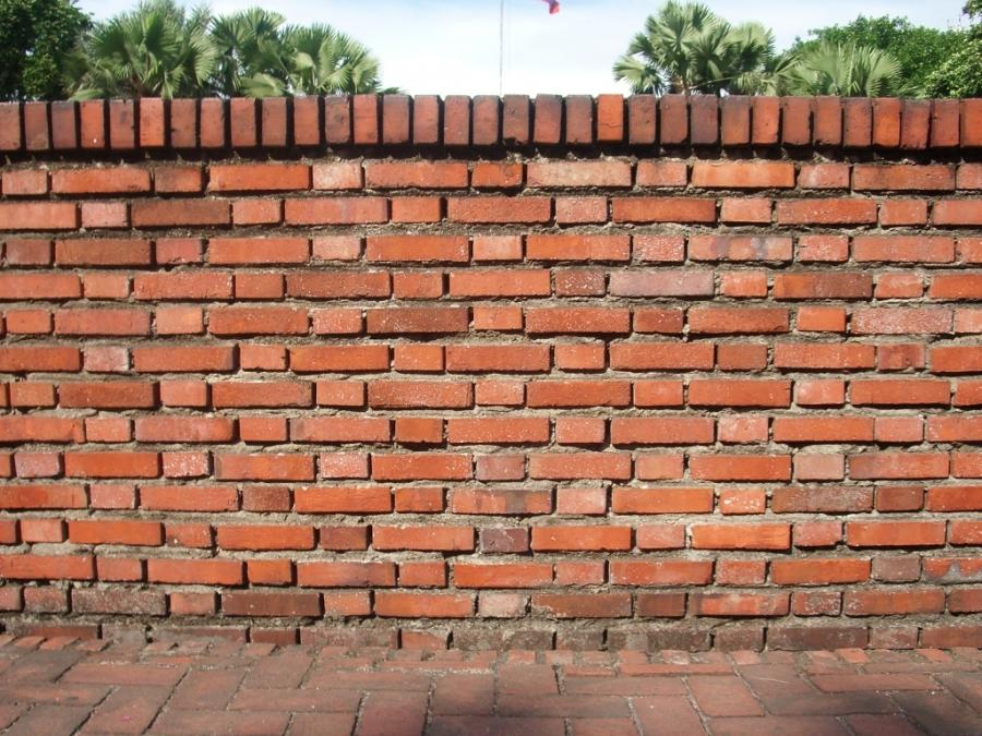 Brick wall fence photos