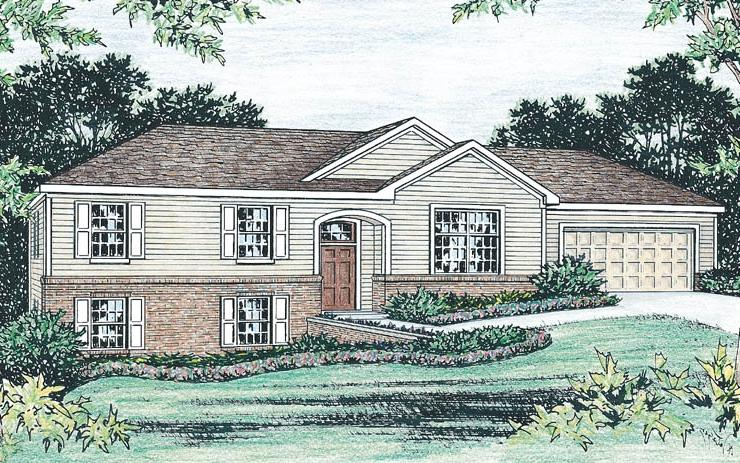 The New Britain Raised Ranch House Plan