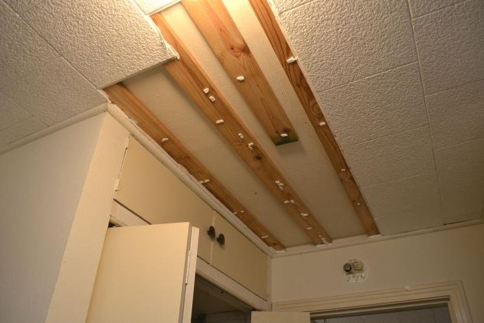 Ceiling tiles with asbestos