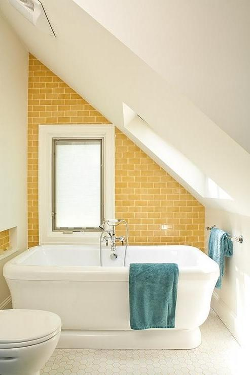 Renewal Design Build - bathrooms - yellow and blue, yellow and...