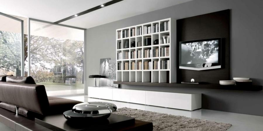 Living Room Design : White Grey Brown Contemporary Living Spaces...