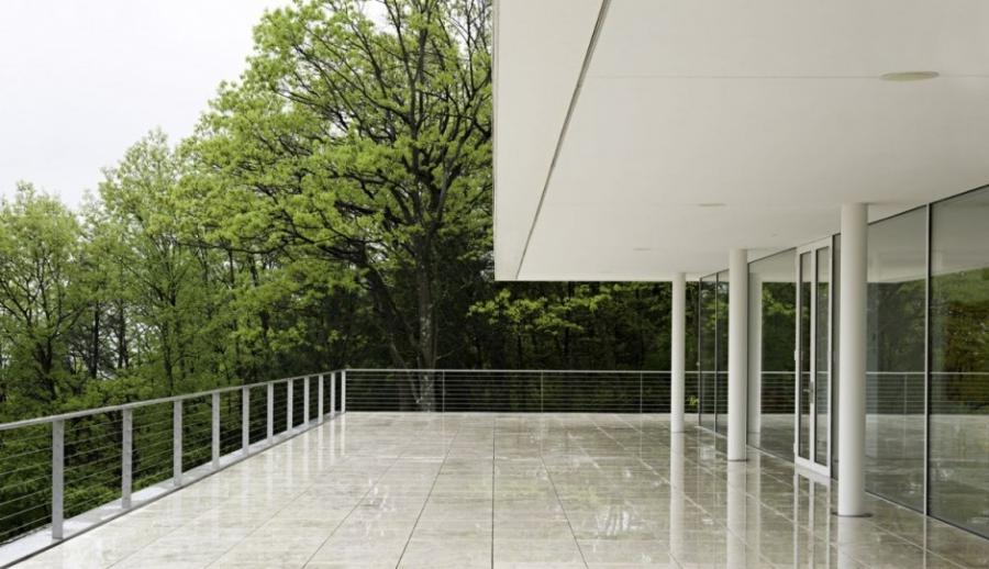 The Olnick Spanu House Large Balcony Architecture Design -...