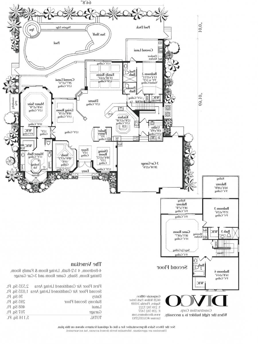 Luxury Home Floor Plans With Photos