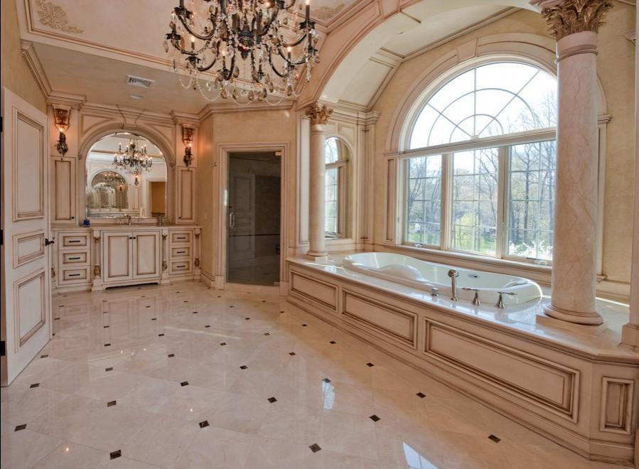 Custom bathroom design photos for Bergen county interior designers
