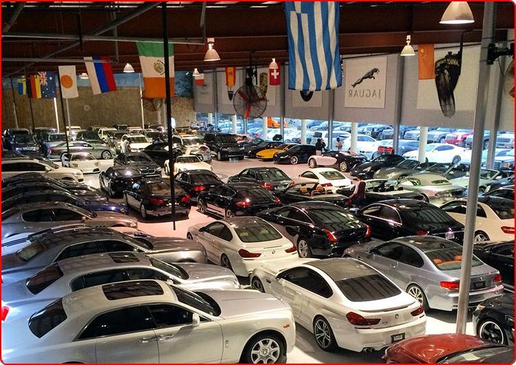 exotic car show room photos