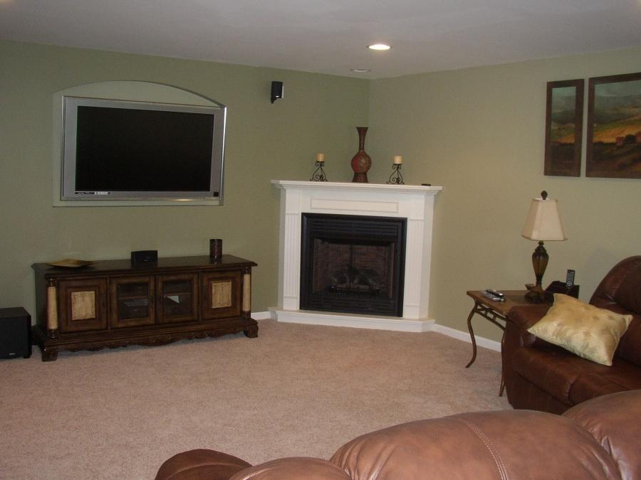 Photos of living rooms with corner fireplaces for L shaped living room with fireplace