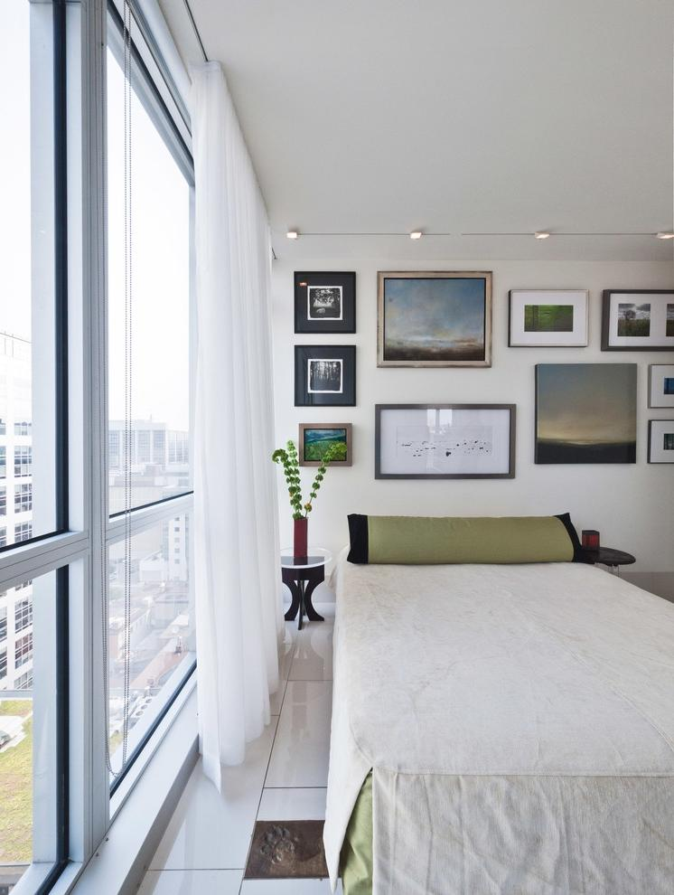 impressive Photo Collage Bedroom Modern design ideas with accent...