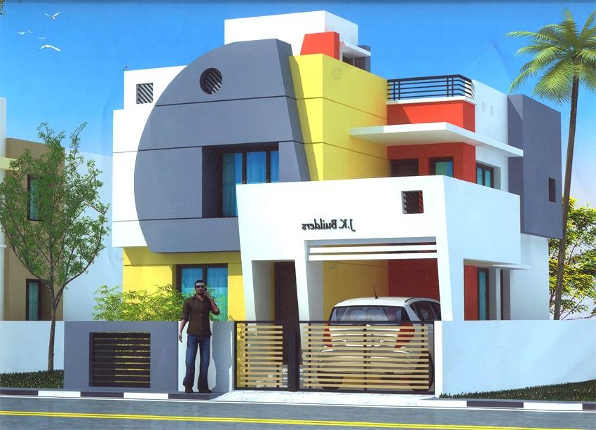 Duplex house builders in chennai joy studio design House architecture chennai