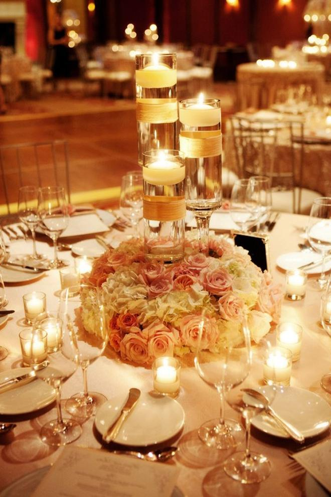 Hurricane candle centerpiece photos