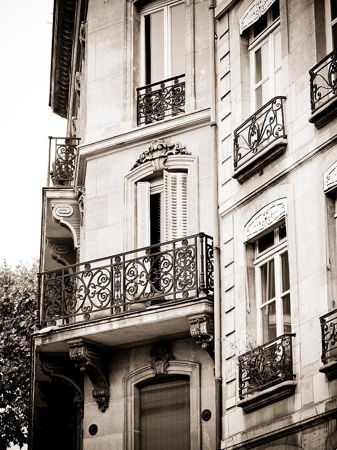 Parisian Balcony Photograph