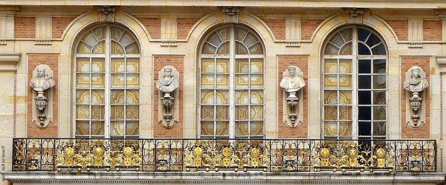 King Louis XIV Balcony, Marble Courtyard of the Palace of...