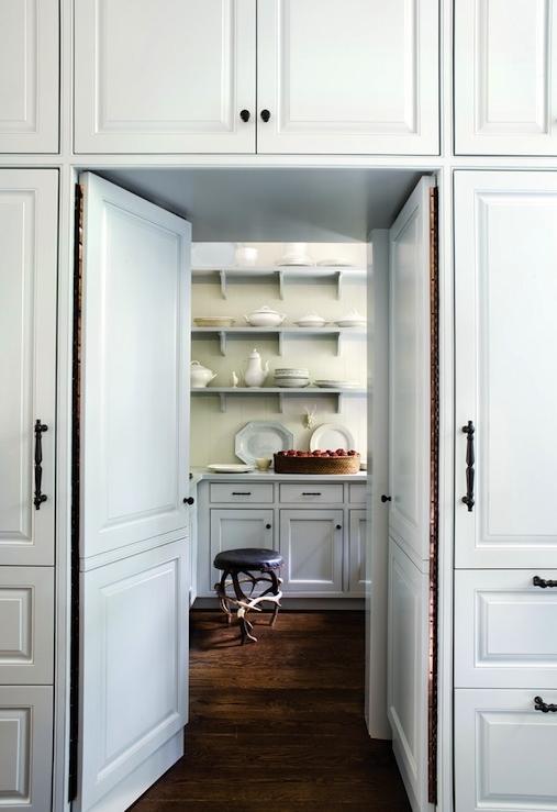 hidden kitchen transitional with - photo #15
