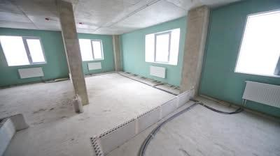 New apartment in building under construction without finishing...