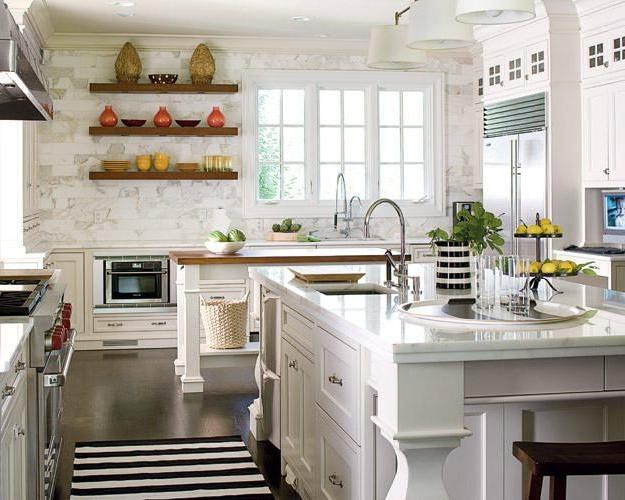 Country kitchen with appliances design
