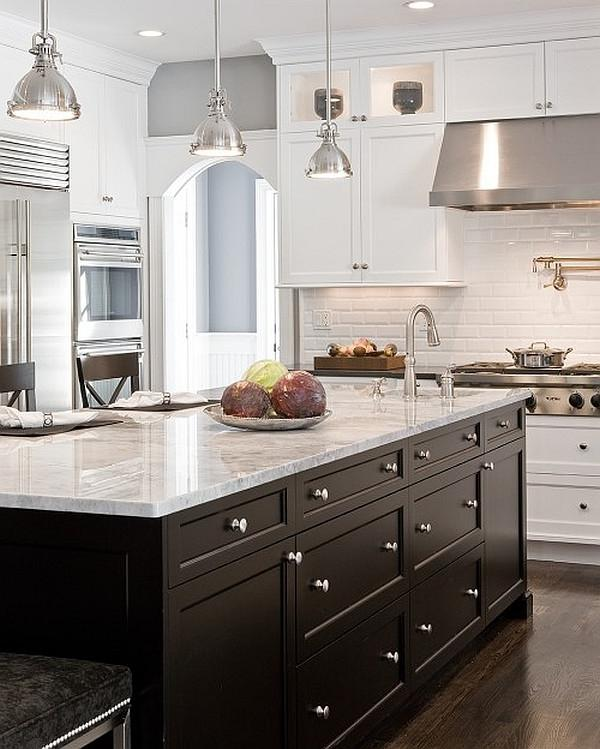 Needham black and white kitchen design with functional cabinets -...