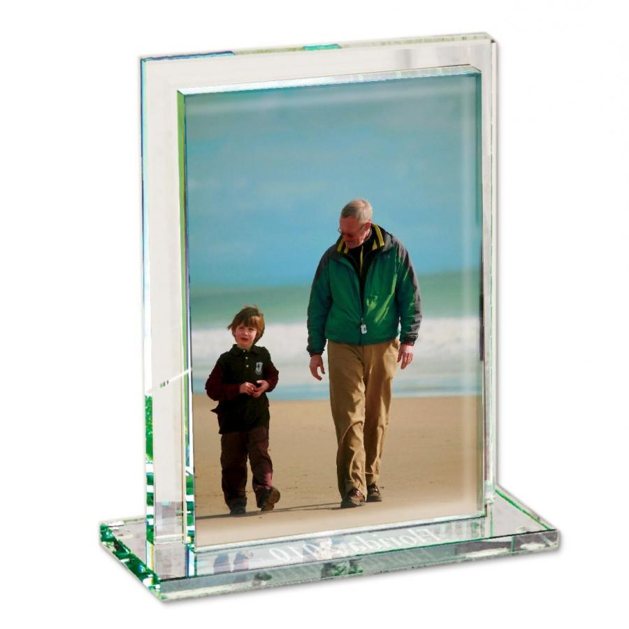 Personalized Glass Photo Frame | Ivy Covered Halls