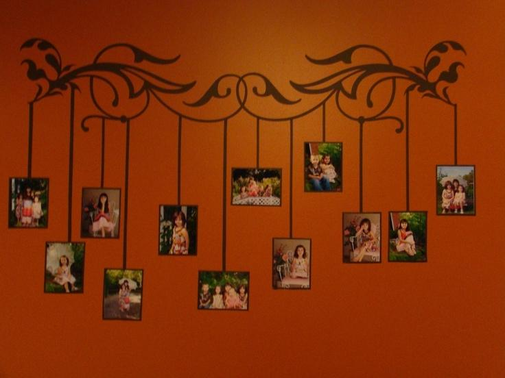 DIY painting alternative family tree wall display. Wonderful...