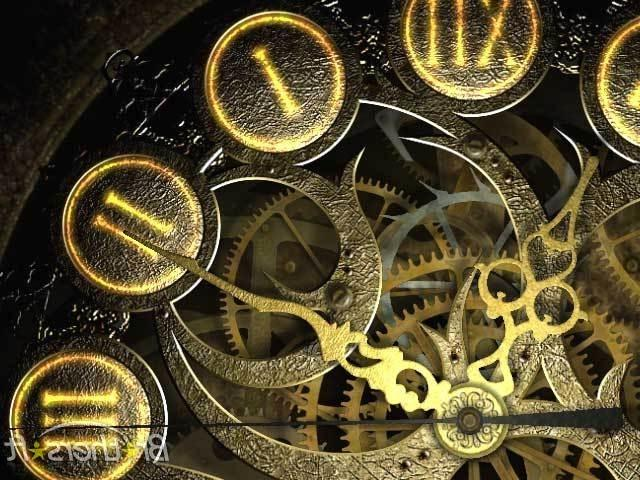 Mechanical Clock 3d Photo Screensaver