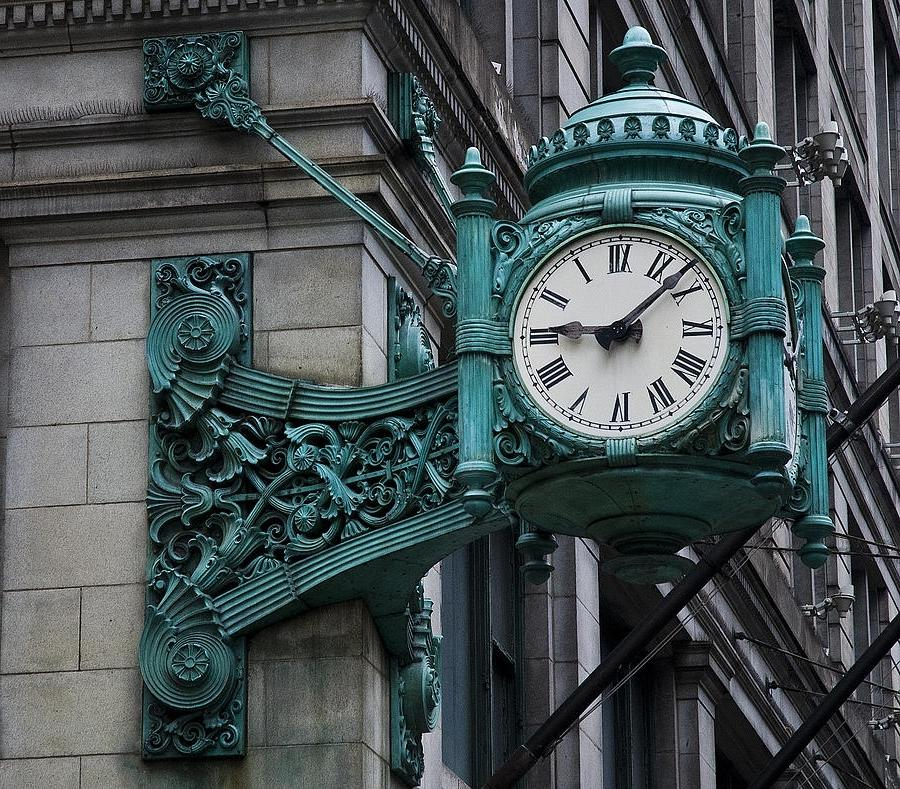 Marshall Fields Clock Photo