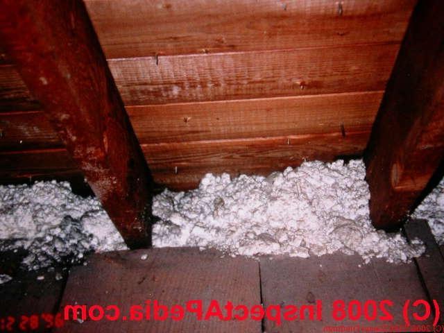 Asbestos Attic Insulation Photos