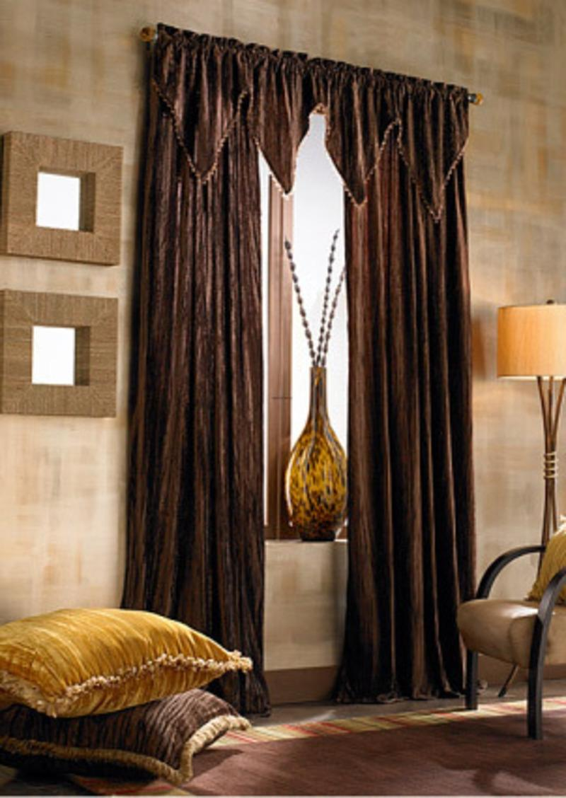 Curtains living room photos for Country living room curtain ideas
