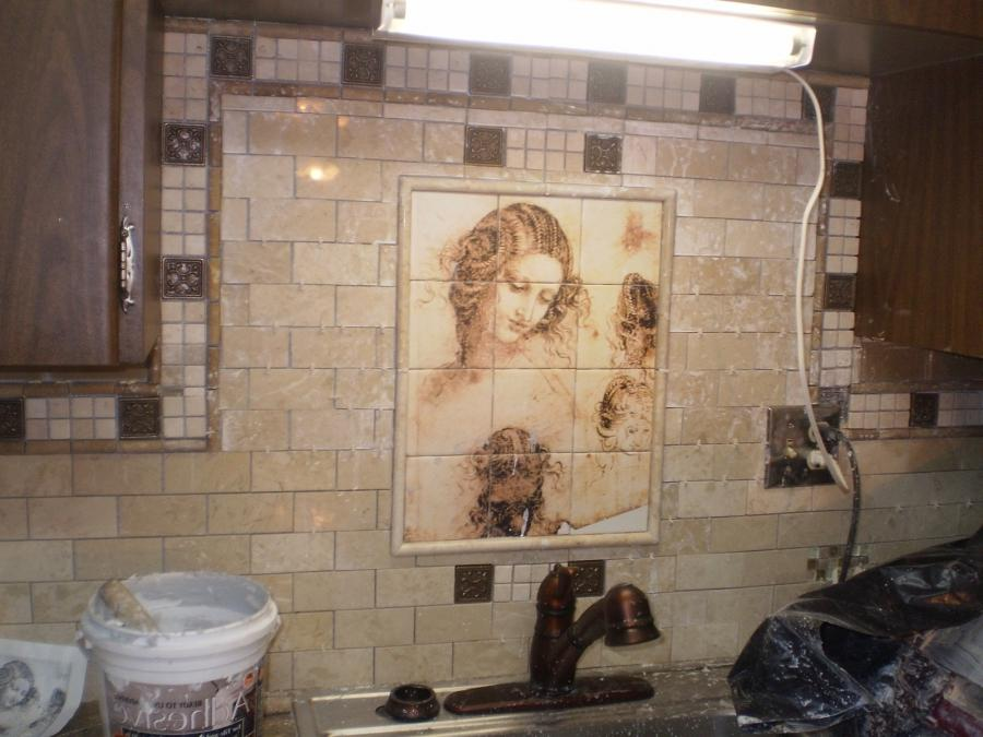 Custom photo tile murals for Custom mural tiles