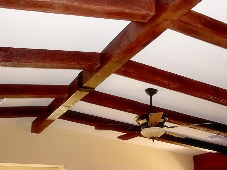 Wood Beams Exposed Home Interior Unfinished Wood Beams Vaulted...