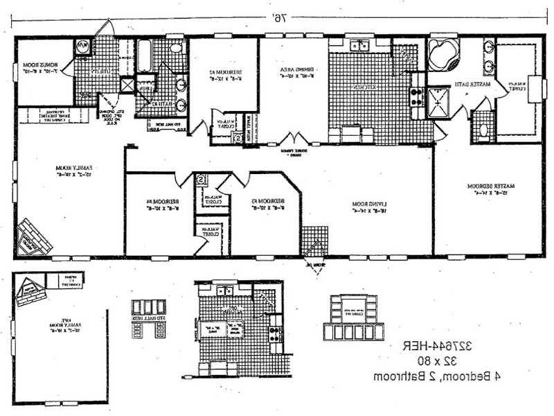 Double wide floor plans photos for Modular home floor plans with two master suites