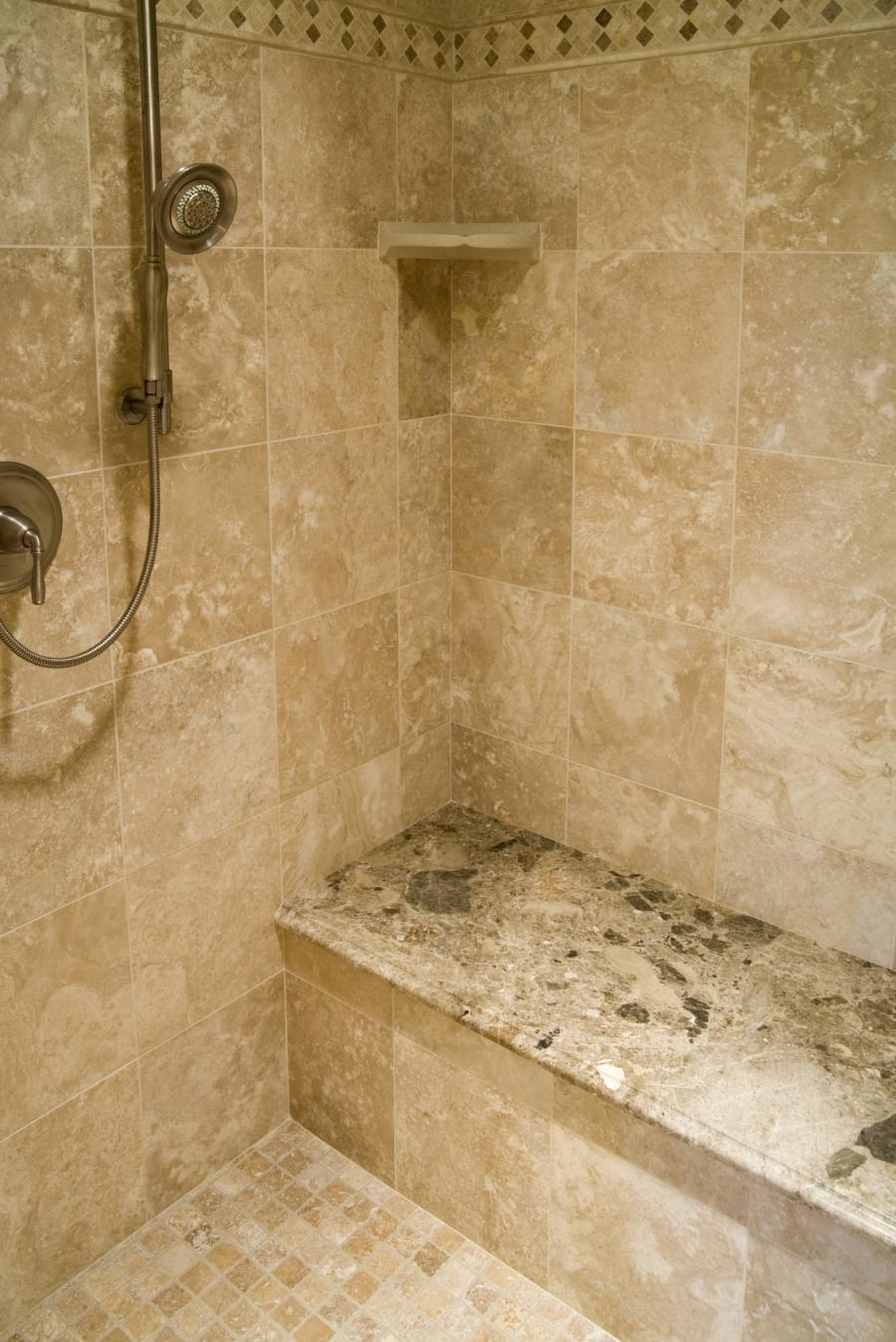 Travertine tile shower photos for Travertine tile bathroom ideas
