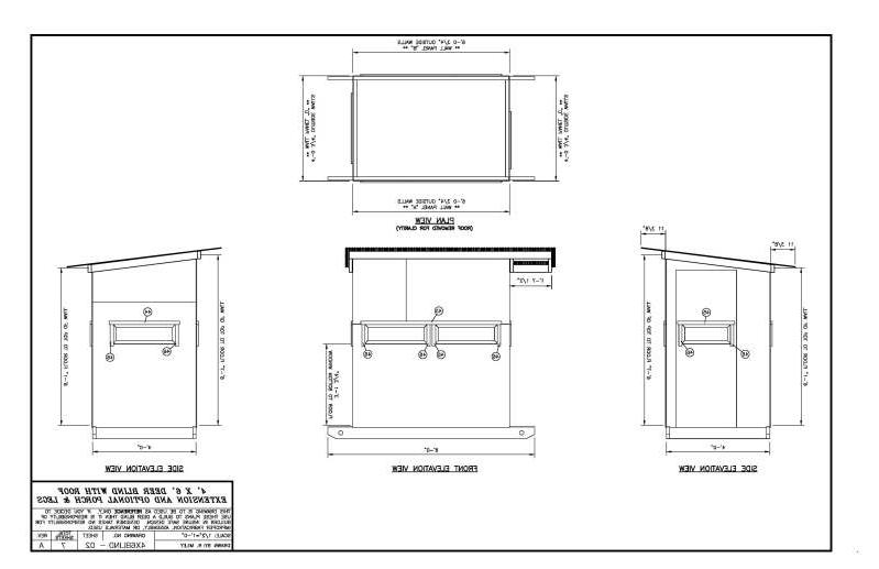 Box blind plans 4x6 related keywords box blind plans 4x6 for Box blind blueprints