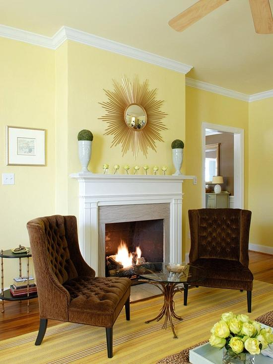 Pale Yellow Living Room Photos