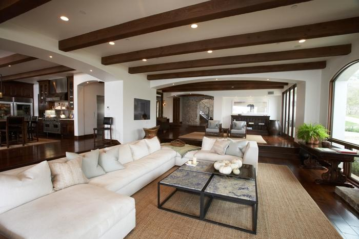 Windsor Smith Home - living rooms - wood beams, exposed wood...