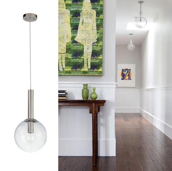 a simple pendant light hanging in a hallway perfect example of...