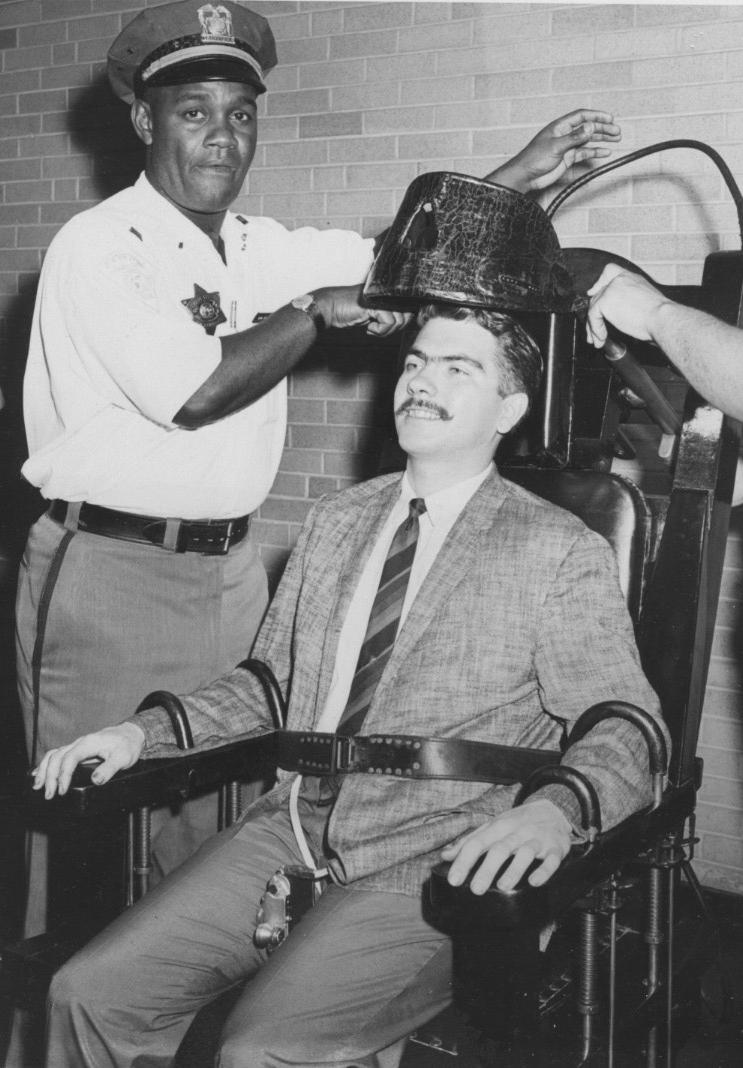 Electric Chair Newspaper Photo