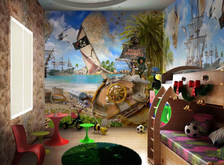 Murals for kids rooms photos for Mural kids room