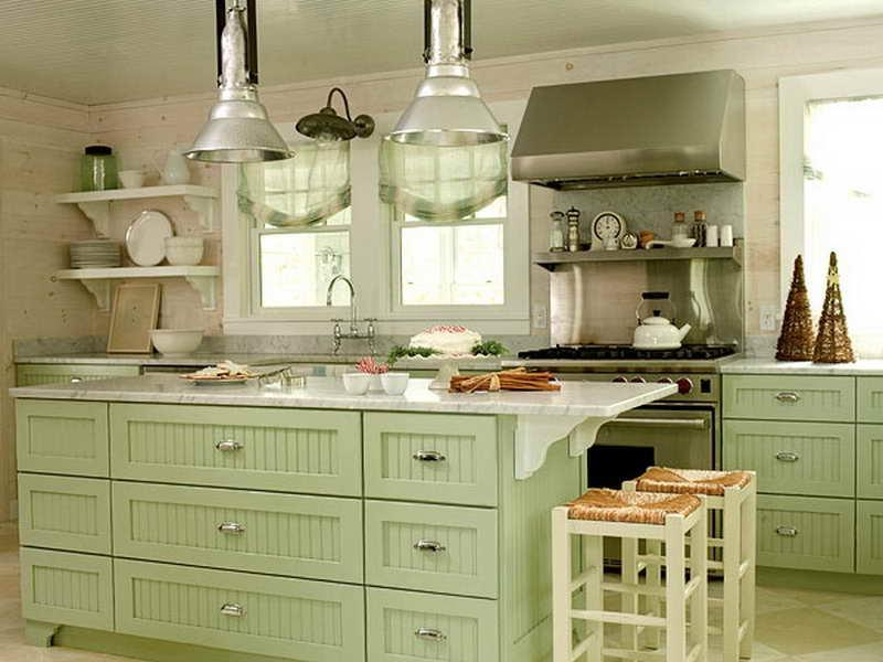 Green country kitchen photos for Green country kitchen ideas