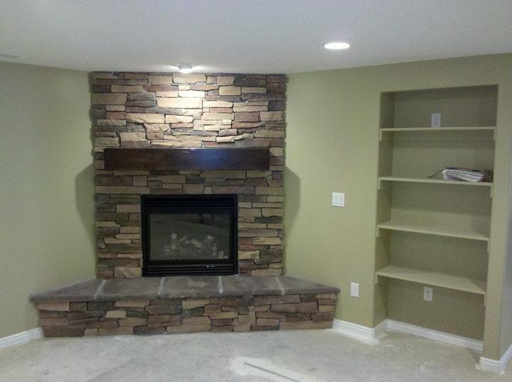 Photo gallery of fireplace for Basement concepts