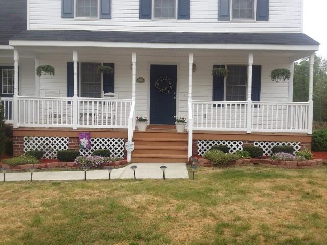 Front Porch - Painted and New Railings