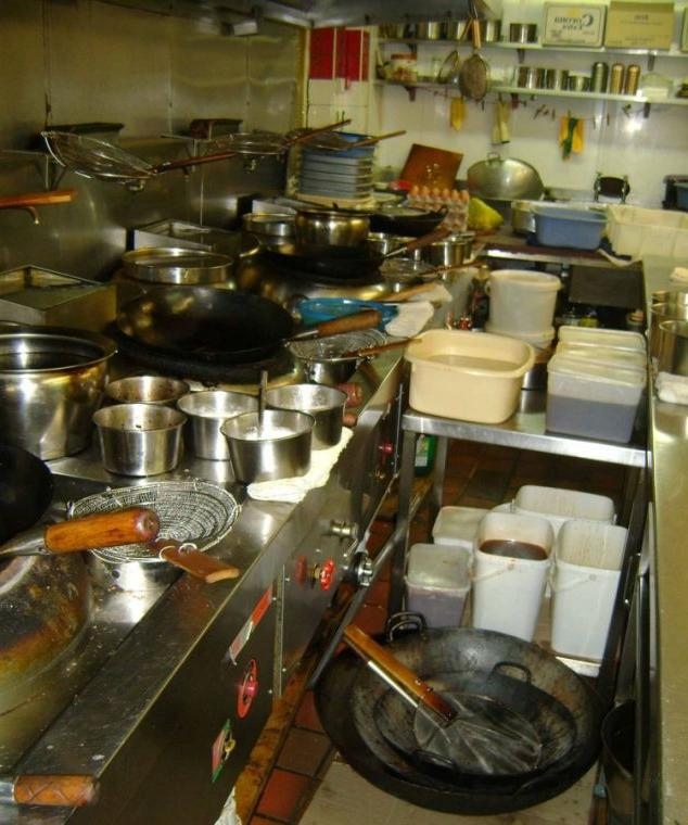 Dirty Restaurant Kitchen Photos